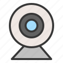 cam, e learning, learning, videocall, webcam icon
