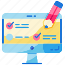e-learning, education, evaluation, exam, online, test