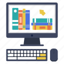 book, bookstore, digital library, e-learning, ebook, education, knowledge icon