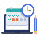 calendar, course, e-learning, online, planner, schedule class, timetable icon