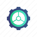 gear, development, engineering, class, e-learning, mechanical, machine icon