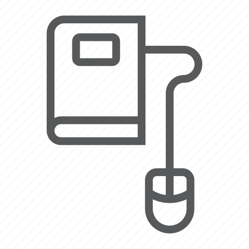 book, e, education, learning, mouse, online, reading icon