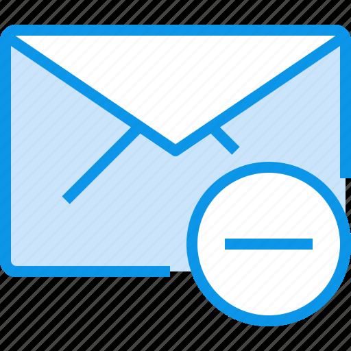 communication, e, letter, mail, message, remove icon