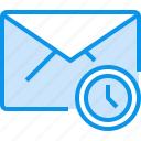 communication, e, letter, mail, message, time icon