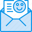communication, good, letter, mail, message, open icon