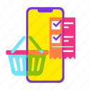 bill, cart, list, online shopping, payment, sale, shopping icon
