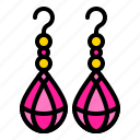 accessory, earring, fashion, jewel, jewelry icon