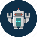 android, machine, robot, robotics, technology icon