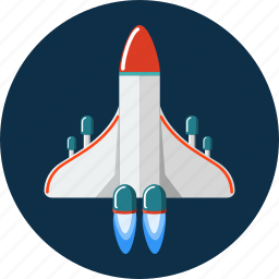 racket, rocket, space, spaceship icon