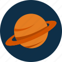 saturn, planet, space icon