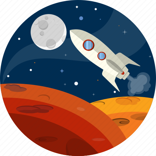 launch, rocket, space, spacecraft, spaceship, technology icon