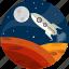 launch, rocket, space, spacecraft, spaceship, technology icon
