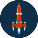 rocket, ship, space, spaceship, transportation icon