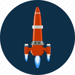 rocket, ship, space, spaceship, transportation icon