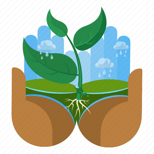 care, ecology, hand, nature, plant, taking, touch icon