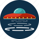 space, spaceship, transport, ufo icon