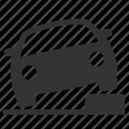 car, earthquake, park, quake, survive, vehicle, wheel icon