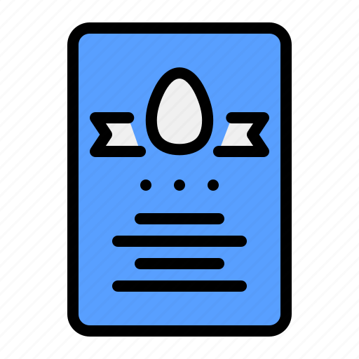 card, celebrate, day, easter, egg, invitation, party icon