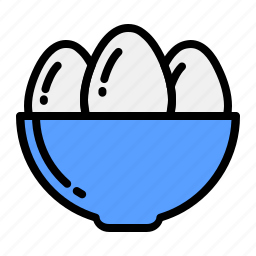 basket, bucket, cup, easter, egg, eggs, tray icon