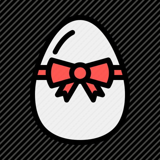 Boiled, brakfast, decorate, easter, egg, food, ribbon icon - Download on Iconfinder