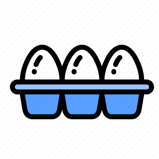 basket, celebrate, day, easter, eggs, party, tray icon