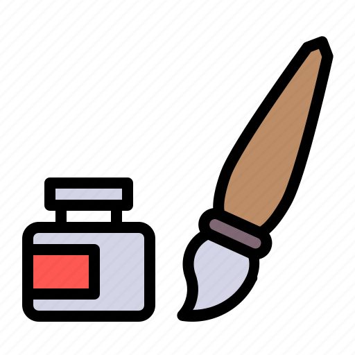brush, color, decoration, easter, paint, party icon