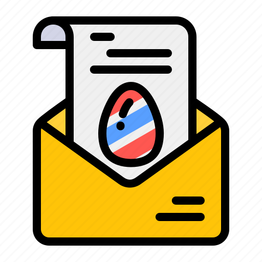 celebrate, easter, egg, invite, mail, party icon