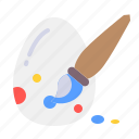 brush, celebrate, color, decorate, egg, paint icon
