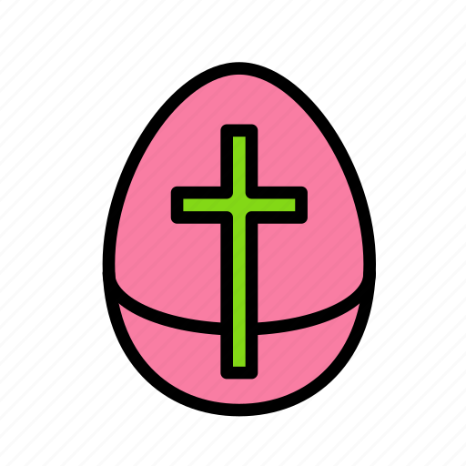 cross, crucifixion, easter, egg, sacrifice icon