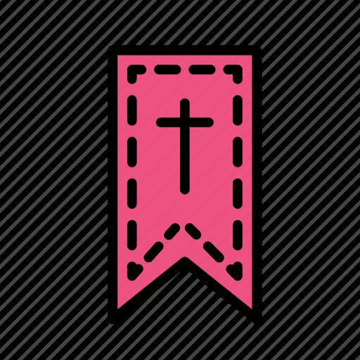 cross, crucifixion, easter, sacrifice, tag icon