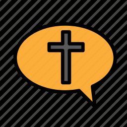 chat, crucifixion, easter, religion, sacrifice icon