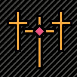 cross, crucifixion, easter, es, sacrifice, three icon