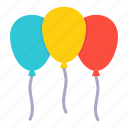 balloon, celebrate, festival, festive, joy, merry icon