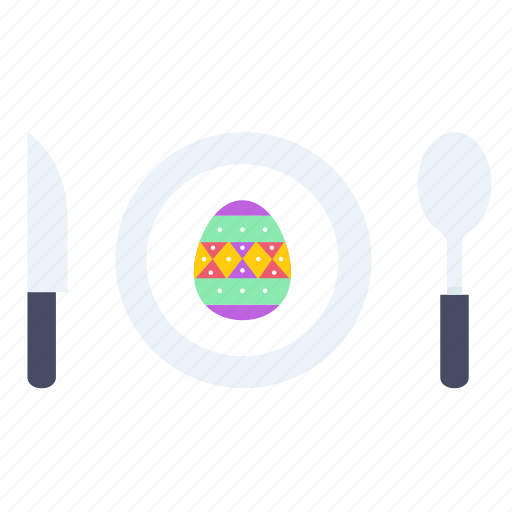dine, dinner, easter, egg, meal, paschal icon
