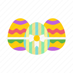 bow, decorated, easter, egg, eggs, paschal, ribbon icon