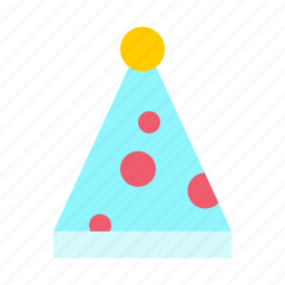 clown, cone, fun, joy, merry, party icon