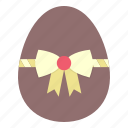 bow, decorated, decoration, easter, egg, paschal, ribbon icon