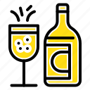 bottle, ddrink, easter, glass icon