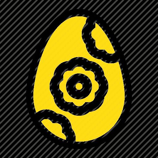 easter, egg, flower icon