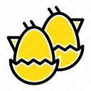 baby, easter, egg, nature icon
