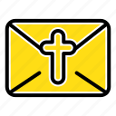 easter, holiday, mail, massege icon
