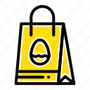 bag, easter, egg, shopping icon