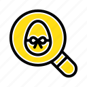 easter, egg, holiday, search icon