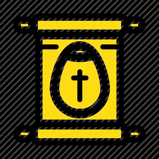 easter, education, school, scroll icon