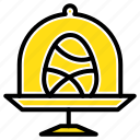 disk, easter, egg, food icon