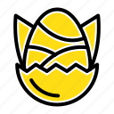 baby, chicken, easter, egg, happy icon