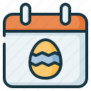 calender, day, easter, egg