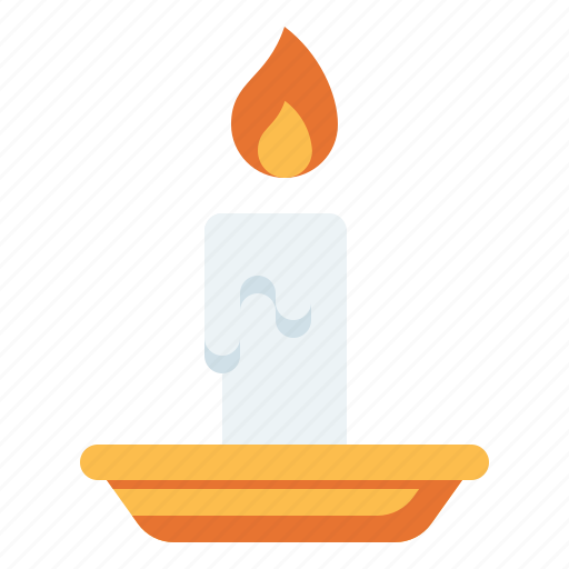 candle, decoration, fire icon