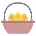 basket, chicken, easter, gift icon