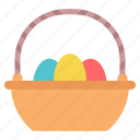 basket, easter, egg, paschal icon